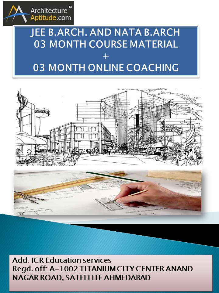Jee B Arch 2019 And Nata 2019 B Arch 03 Month Course